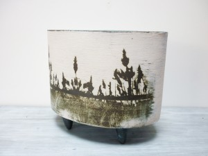 'Reed' oval planter